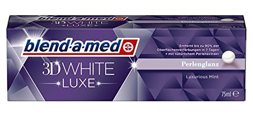 blend-a-med Zahncreme 3D White Luxe Pearl Shine Perlenglanz Zahnpasta 2er Pack (2 x 75 ml)