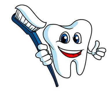 Illustration Zahn mit Zahnbürste auf www.weissezaehnebleaching.de