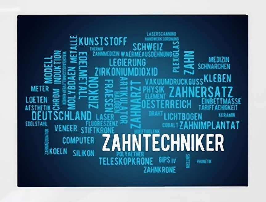 Textgrafik Zahntechnik Veneers - weissezaehnebleaching.de/