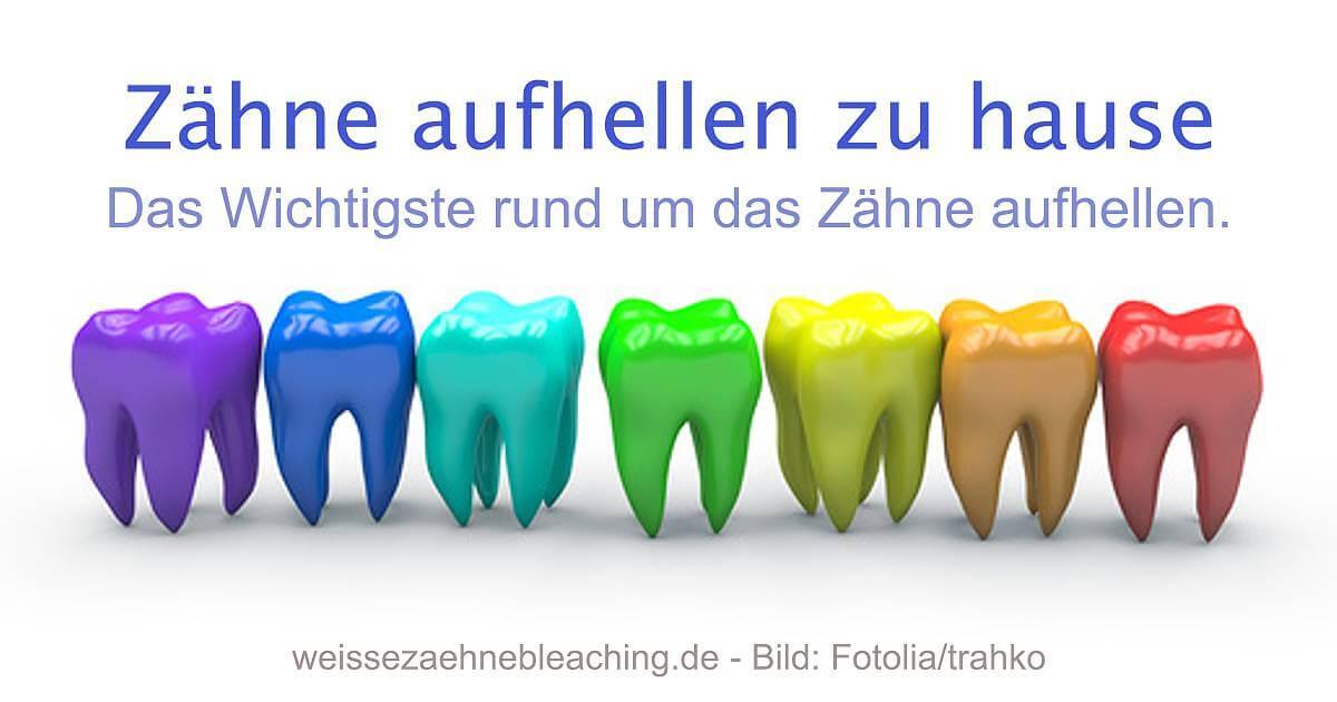 Bunte Zahnreihe Zähne aufhellen social
