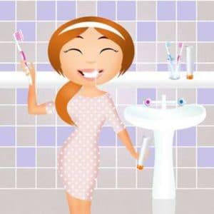 Zu hause selber Zähne aufhellen